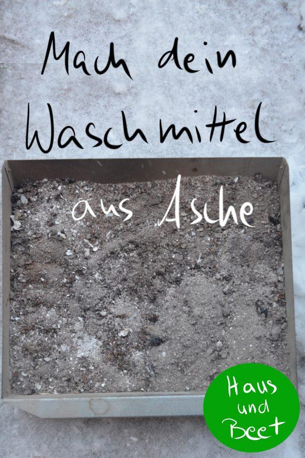Mach dein eigenes Waschmittel aus Asche