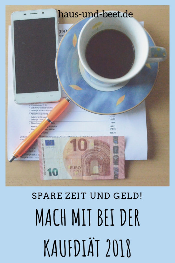 Kaufdiät im März - Geld und Zeit sparen
