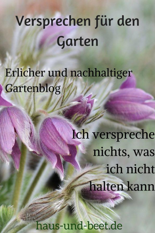 Versprechen für den Garten