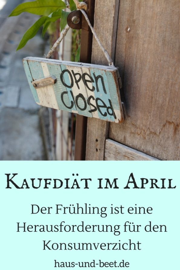 Kaufdiät im April Pinterest