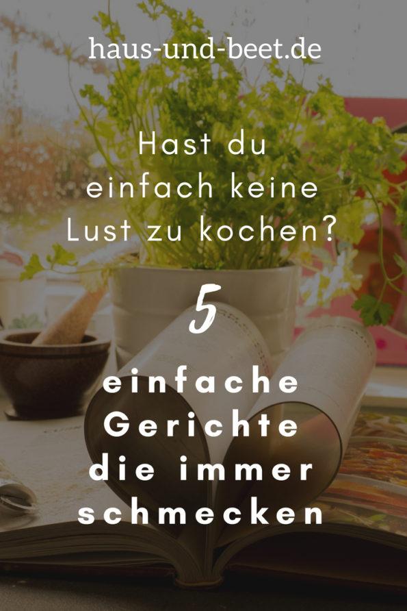 5 einfache Gerichte