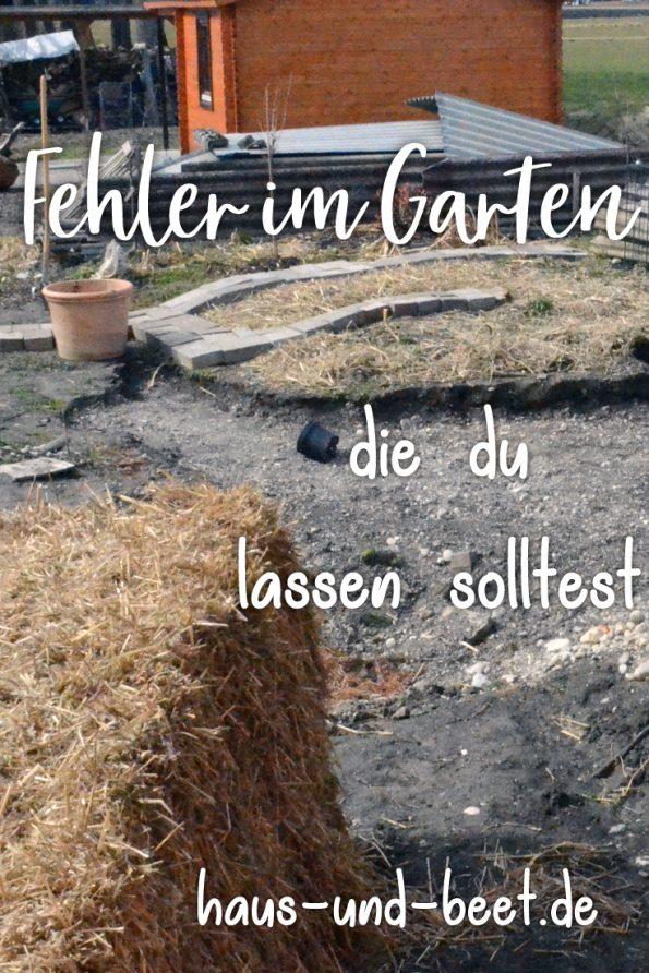 Fehler im Garten