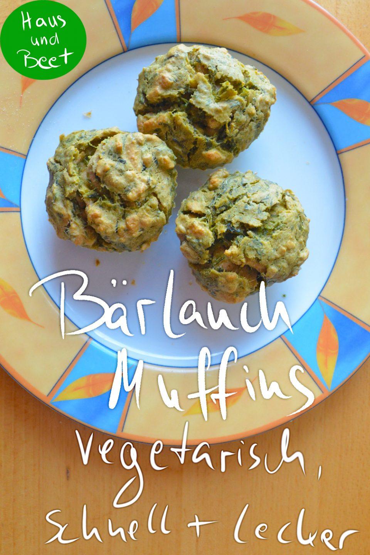 Bärlauch Muffins - vegetarisch und schnell