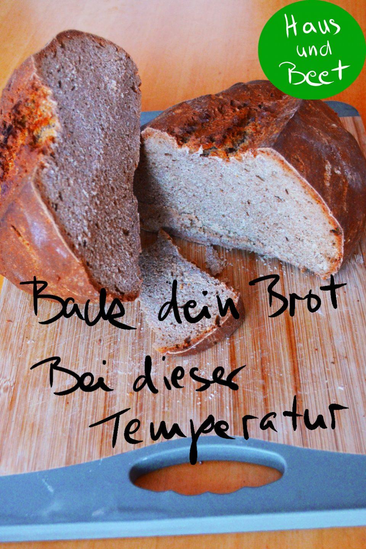 Welche Temperatur beim Brot backen