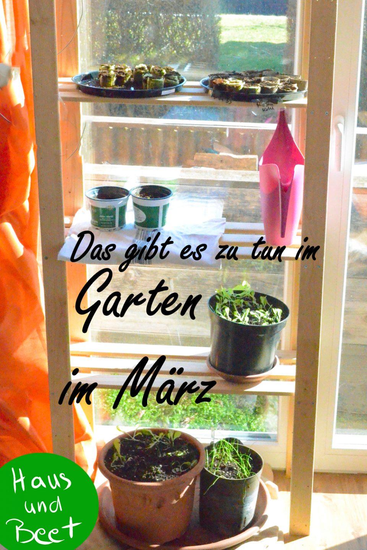 Garten im März Aufgaben