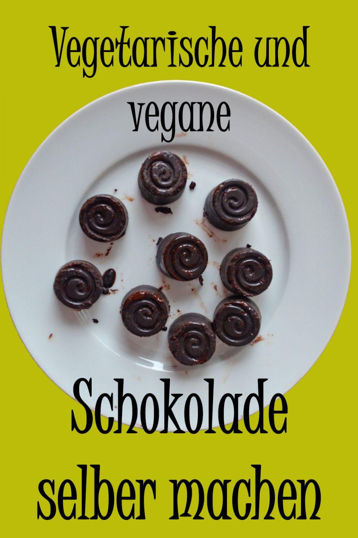 Vegetarische und vegane Schokolade selber machen