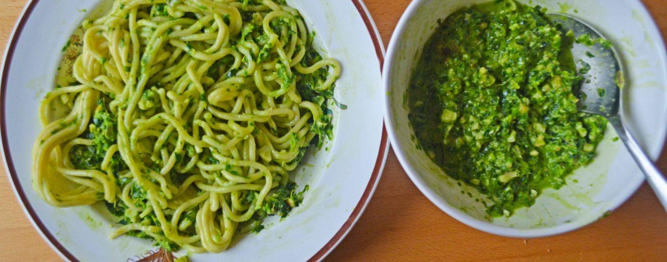 Nudeln mit Pesto in 10 Minuten