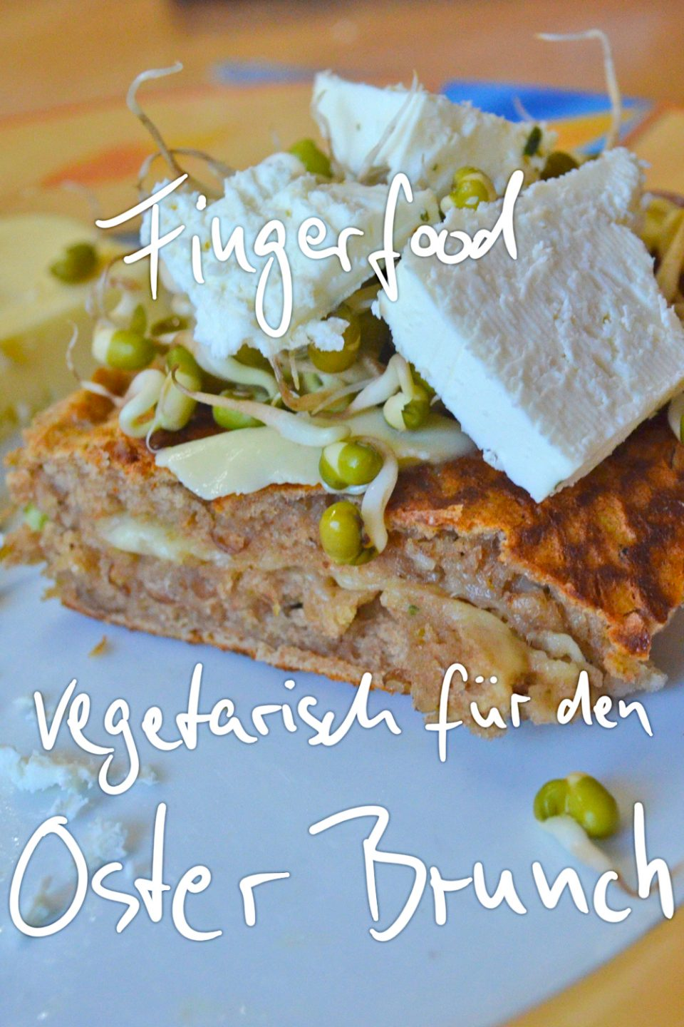 Sprossen Salat, Brot Fingerfood Osterbrunch