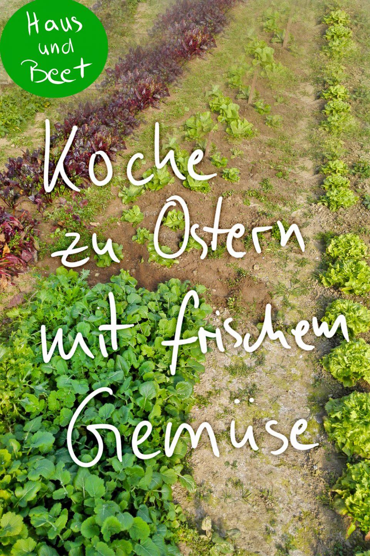 saisonales Gemüse im Frühling Ostern
