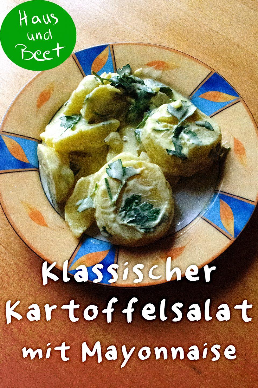 Klassischer Kartoffelsalat mit Mayonnaise