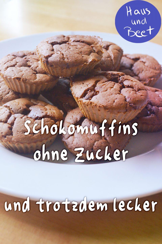 Süße Schokomuffins ohne Zucker