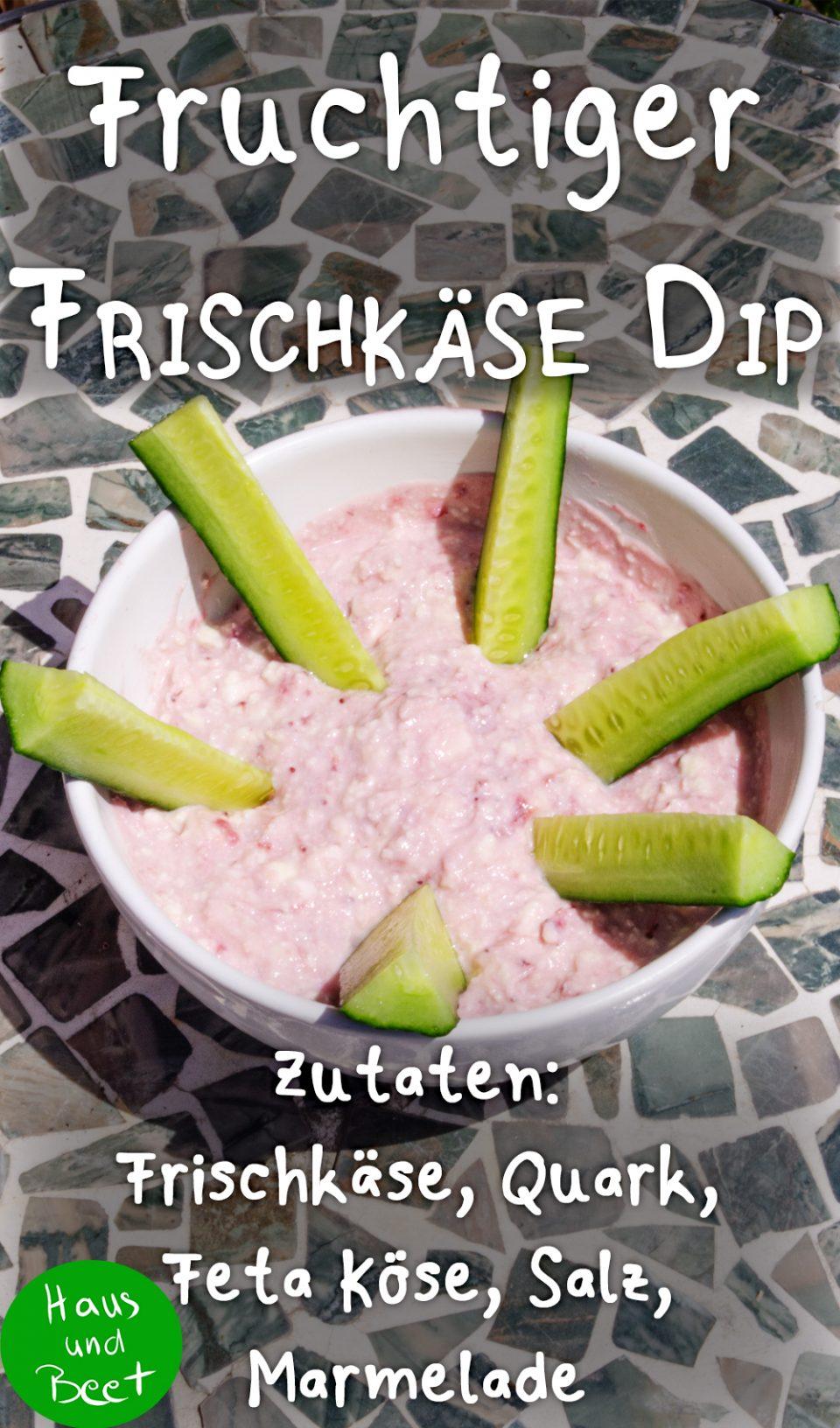 Fruchtiger Dip mit Frischkäse