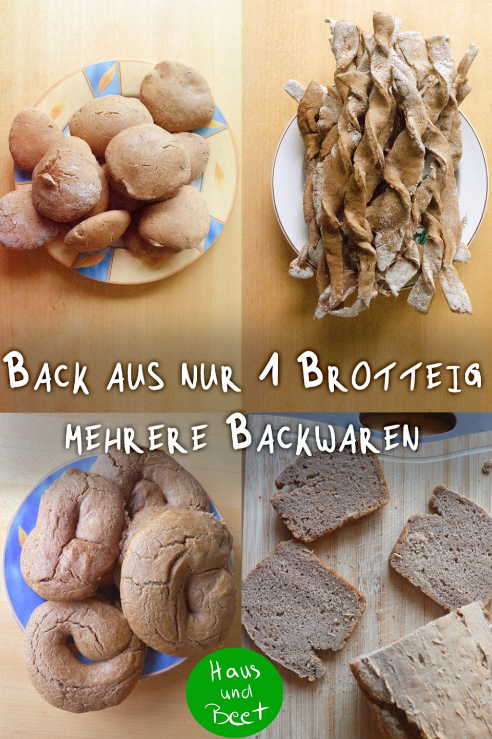 Backwaren aus Brotteig