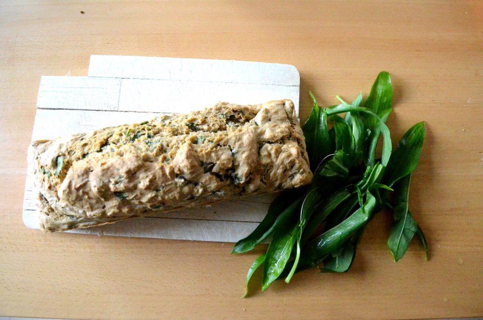 Bärlauch Brot ohne Hefe