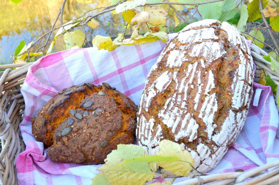 Kürbisbrot Brot ohne Hefe