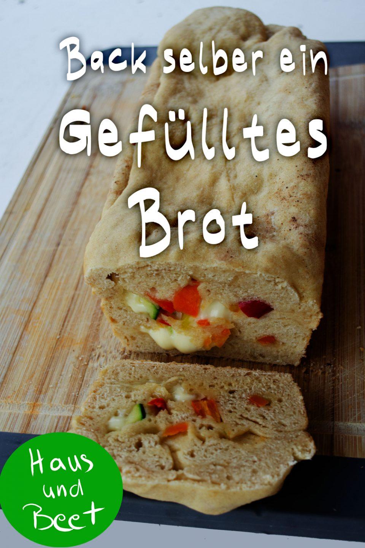 Gefülltes Brot vegetarisch