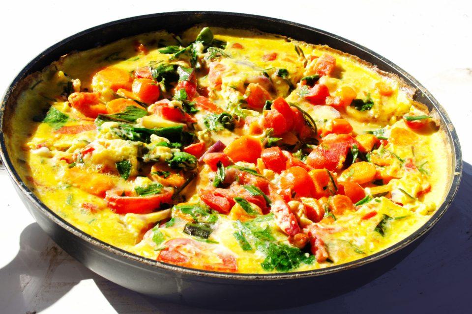 Mangold Omelett