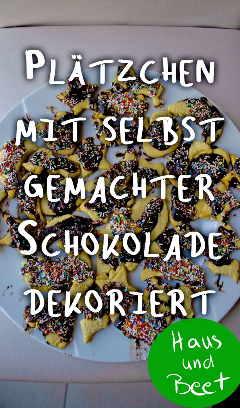 Plätzchen backen mit Kindern mit selbst gemachter Schokolade