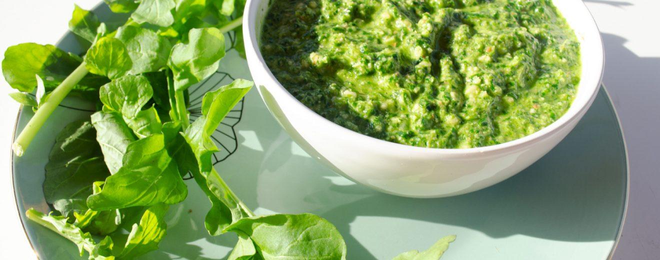 Rucola Pesto veganes Rezept