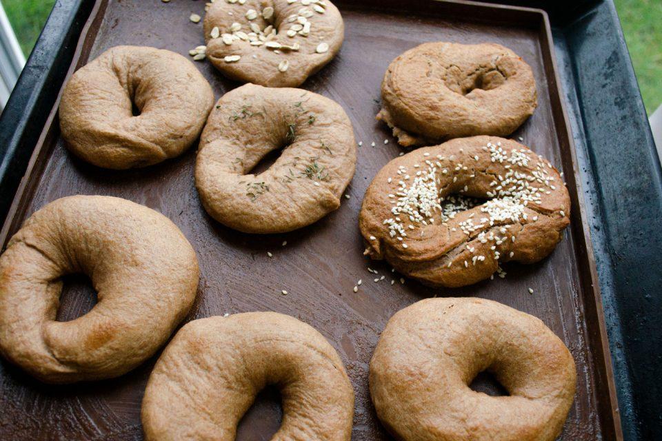 Bagel selber gebacken