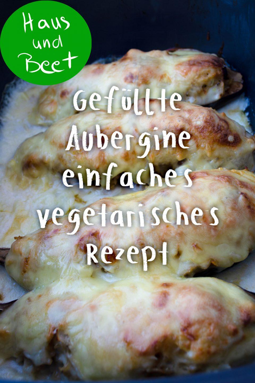 Gefüllte Aubergine vegetarisch