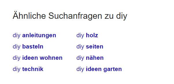 Google Suche DIY 2