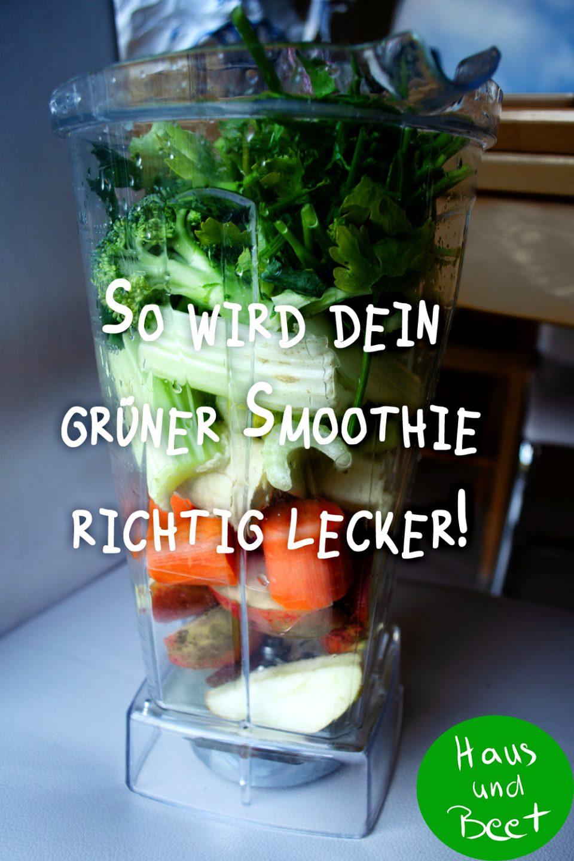 Grüner Smoothie mögliche Zutaten
