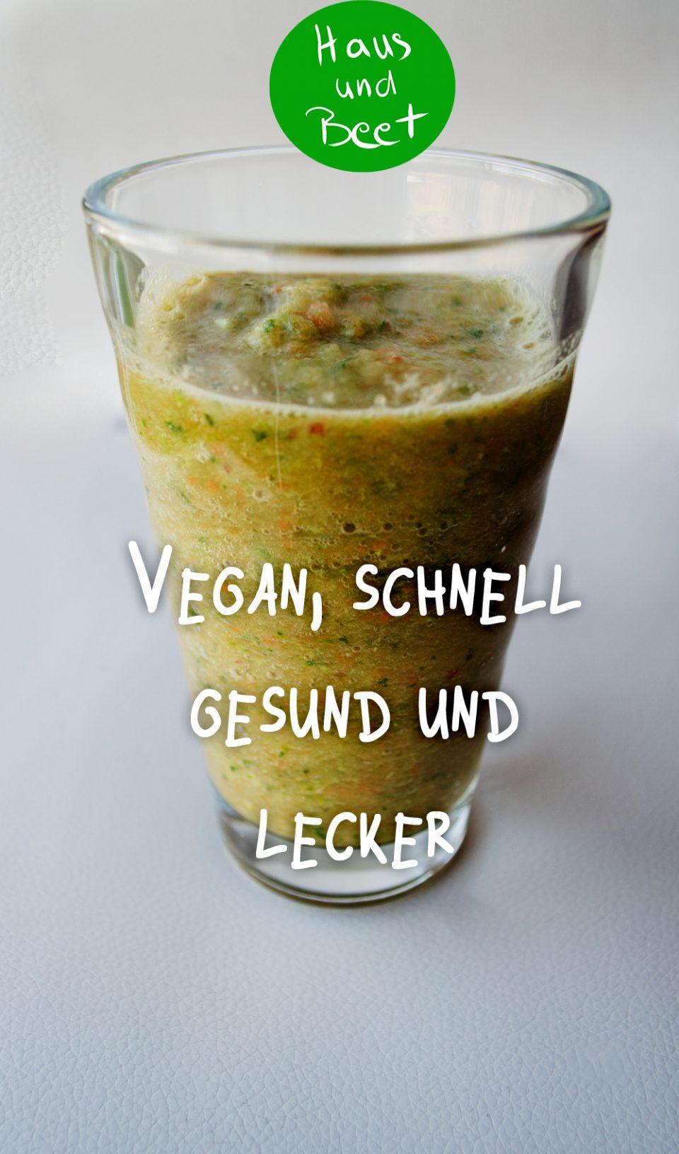 Grüner Smoothie vegan und gesund