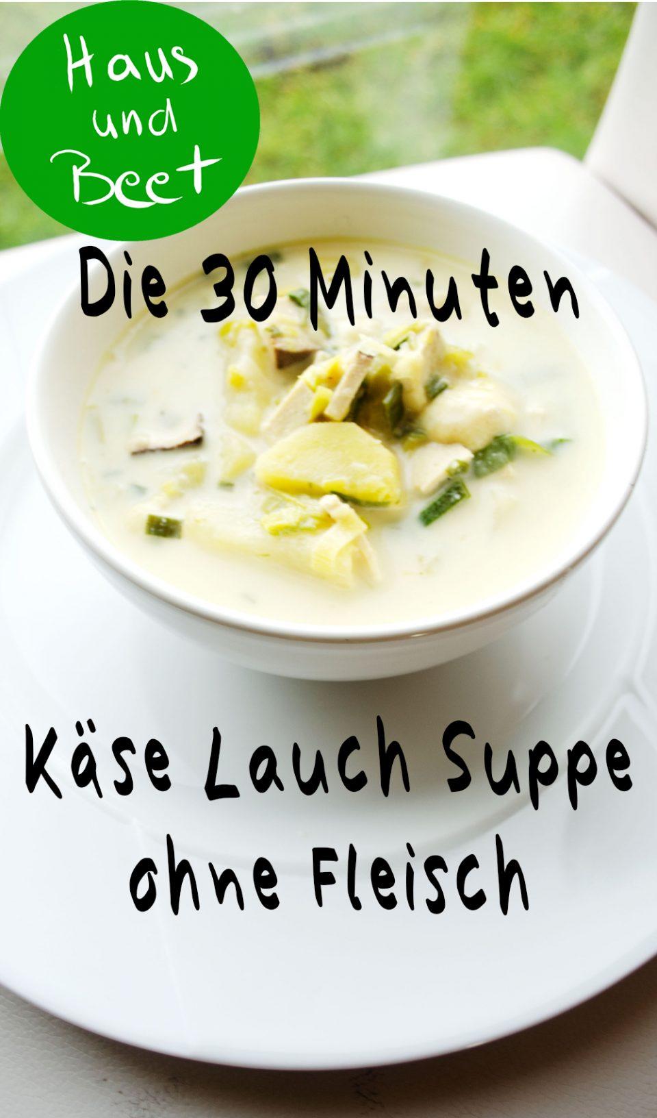 Käse Lauch Suppe ohne Fleisch