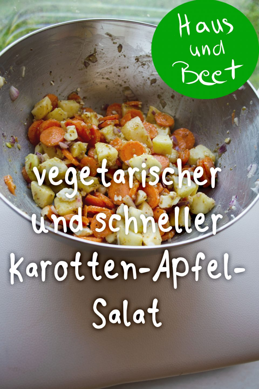 schneller vegetarischer Karotten-Apfel-Salat