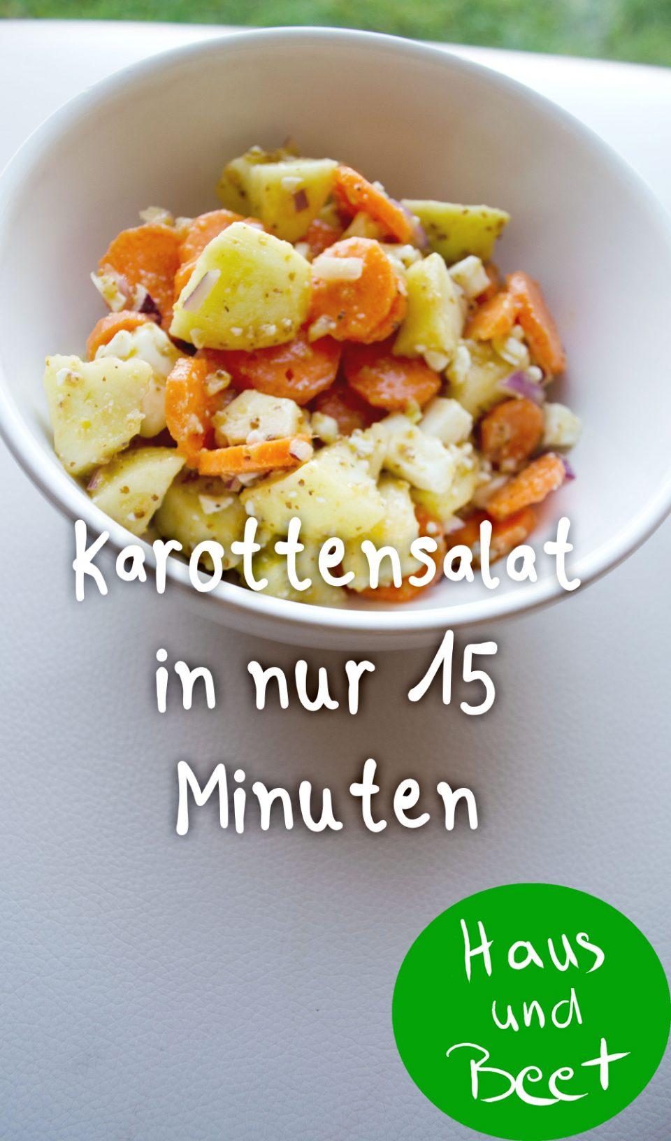 Karottensalat in 15 Minuten