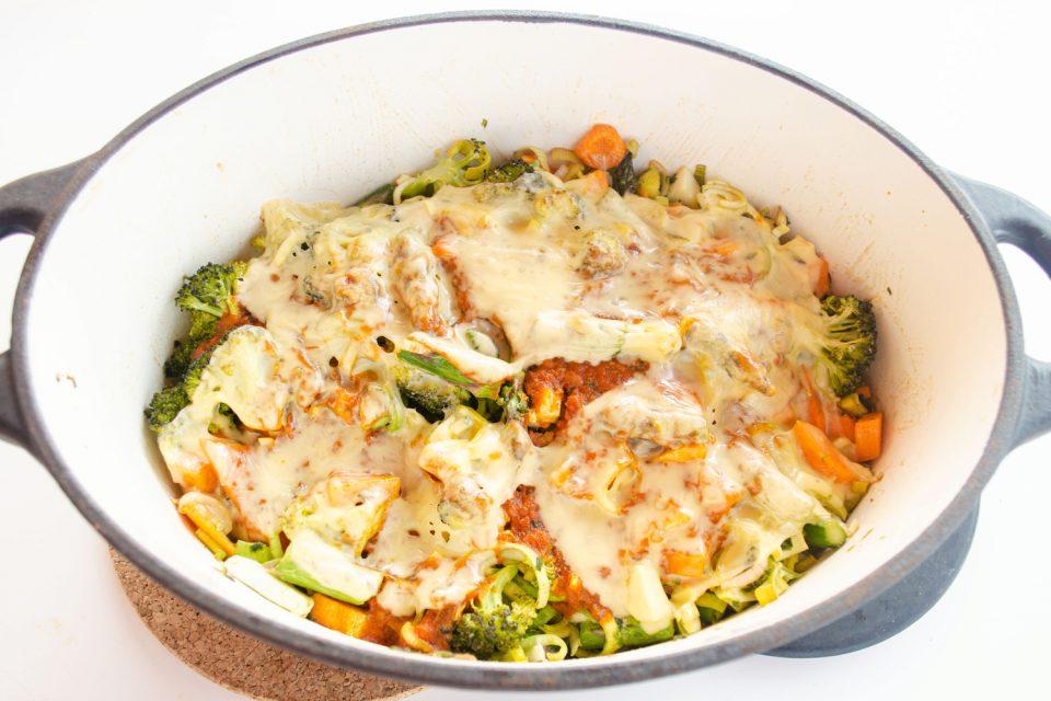 Grüner Spargel vegetarisches Rezept aus dem Ofen