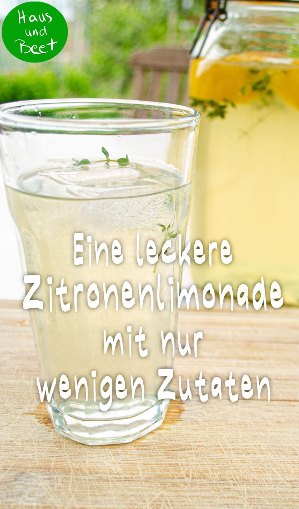 Zitronenlimonade selber machen einfaches Rezept