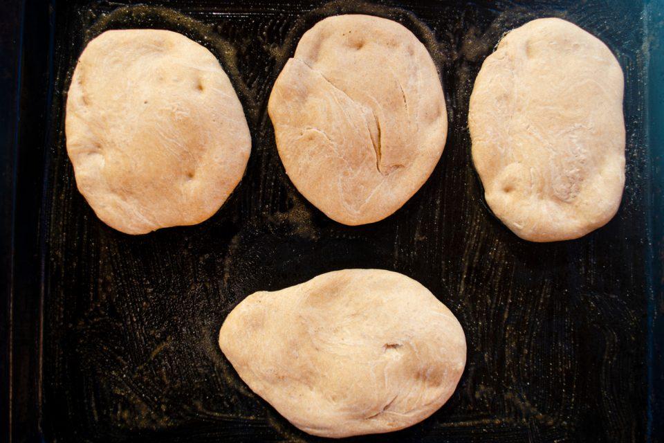 Pizzabrötchen Pizzateig vegan backen