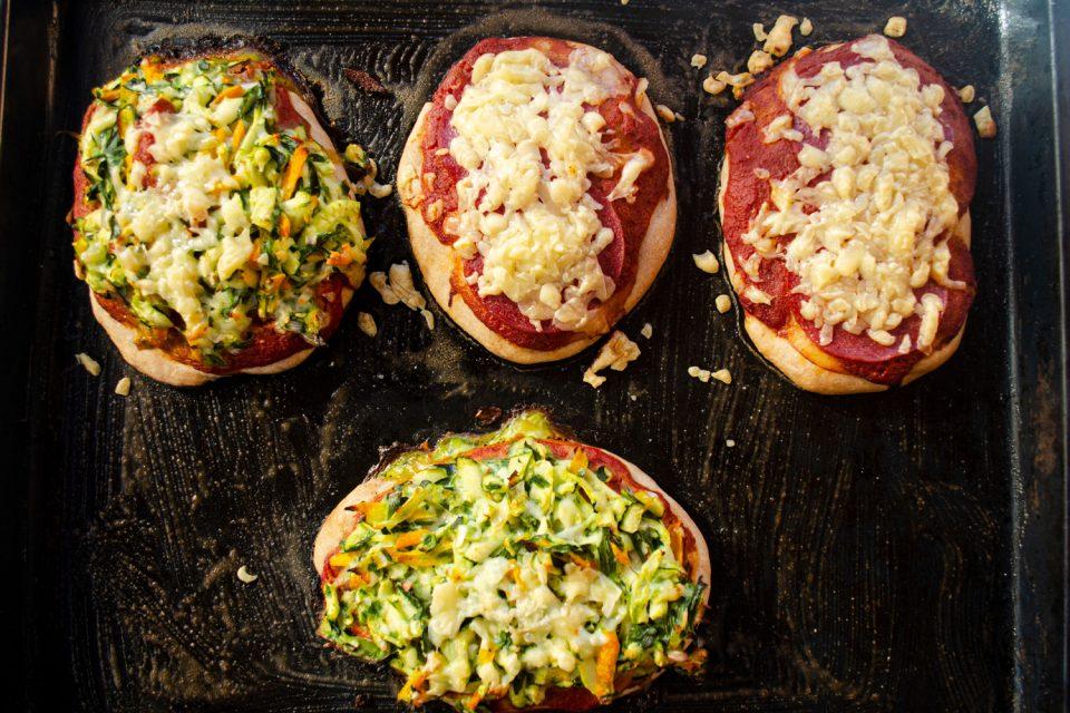 Pizzabrötchen vegetarisch und für Kinder